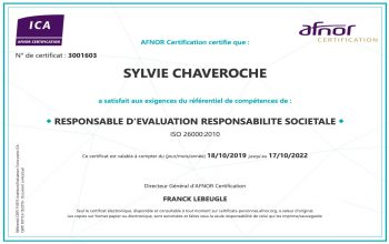 Certification AFNOR ICA-RSO